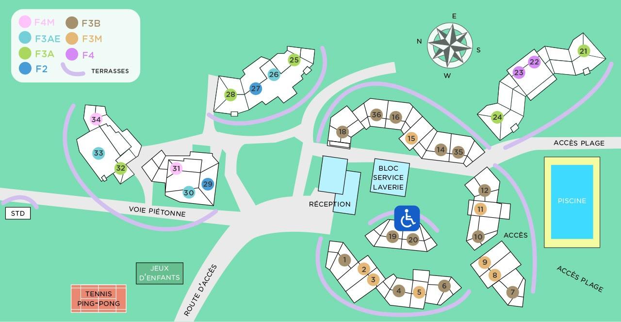 Plan de la résidence Blue Marine à Santa Giulia